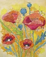 Poppy Collage II Fine Art Print