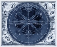Indigo Planetary Chart Fine Art Print
