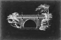 Bridge Schematic I Framed Print