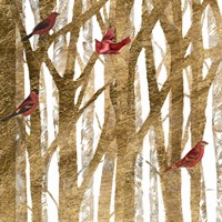 Red Bird Christmas I Fine Art Print