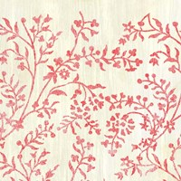 Weathered Patterns in Red V Framed Print