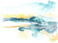 Liquid Lakebed I Framed Print