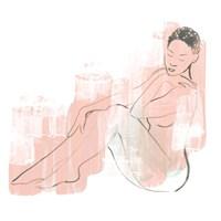 Colorblock Figure I Framed Print