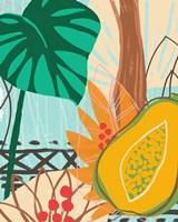 Graphic Jungle I Framed Print