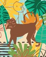 Graphic Jungle III Framed Print