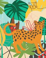 Graphic Jungle IV Framed Print