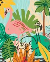 Graphic Jungle VI Framed Print