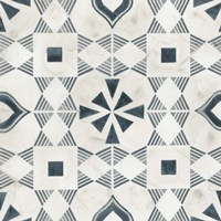 Teal Tile Collection V Framed Print