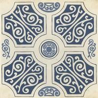 Indigo Motif VII Fine Art Print