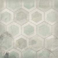 Hexagon Tile VII Framed Print