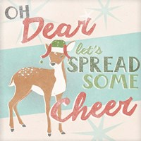 Retro Christmas I Framed Print