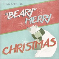 Retro Christmas II Framed Print