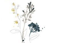 Navy Garden Inspiration I Framed Print