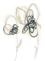 Monochrome Floral Study VI Fine Art Print