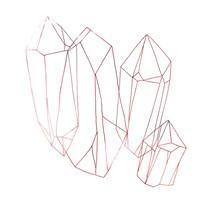 Contour Crystals II Framed Print