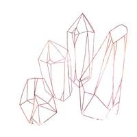 Contour Crystals III Framed Print