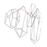 Contour Crystals IV Framed Print