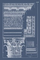 Column & Cornice Blueprint II Framed Print