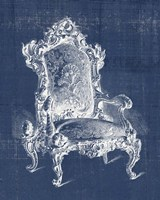 Antique Chair Blueprint II Framed Print