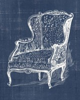 Antique Chair Blueprint III Framed Print