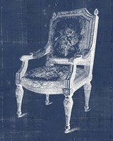 Antique Chair Blueprint IV Framed Print