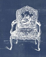 Antique Chair Blueprint V Framed Print