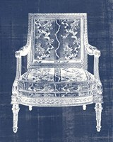 Antique Chair Blueprint VI Framed Print