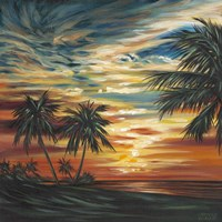 Stunning Tropical Sunset I Fine Art Print