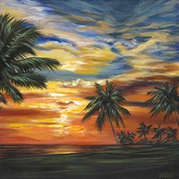 Stunning Tropical Sunset II Fine Art Print
