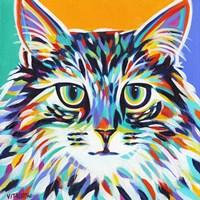 Dramatic Cats I Fine Art Print