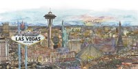 Vegas Skyline in Color Fine Art Print