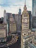 US Cityscape-Chicago Fine Art Print