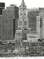 B&W Us Cityscape-Boston Fine Art Print