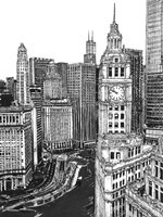 B&W Us Cityscape-Chicago Fine Art Print