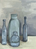 Still Life with Bottles I Fine Art Print