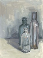 Still Life with Bottles II Fine Art Print