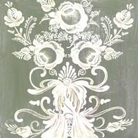 Patinaed Scroll II Framed Print