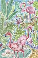 Flamingo Paradise I Framed Print