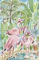Flamingo Paradise II Framed Print