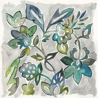 Sapphire Vine I Fine Art Print
