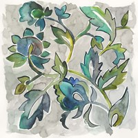 Sapphire Vine II Fine Art Print