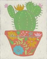 Happy Cactus I Framed Print