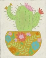 Happy Cactus II Framed Print