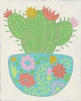 Happy Cactus IV Framed Print