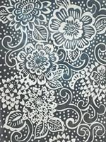 Floral Batik I Framed Print