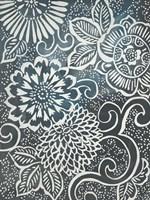 Floral Batik II Framed Print