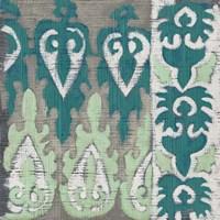 Teal Tapestry II Framed Print
