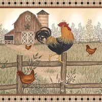 Rustic Farm Rooster Fine Art Print