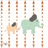 Zoo Animals Elephants Fine Art Print