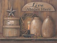 Love Abides Here Shelf Fine Art Print